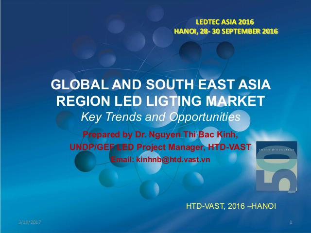 Global and South east asia region LED lighting market